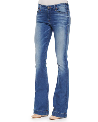 Charlize Faded Whiskered Flared Jeans
