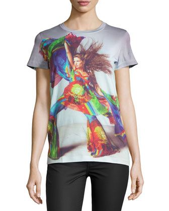 Short-Sleeve Lady Graphic Tee