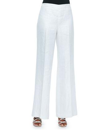 Mackenzie One-Button Jacket, Short-Sleeve Drawstring Sweater & Wide-Leg ...