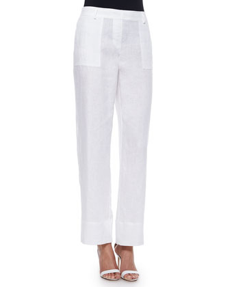 Silicon Washed Linen Pants