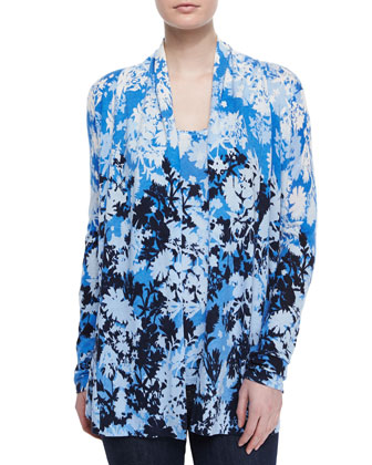 Shadow Floral Cashmere Cardigan
