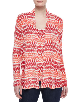 Ikat Striped Cashmere Cardigan