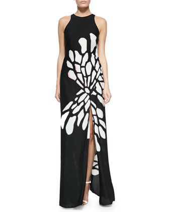 Glow Wings Printed Maxi Dress