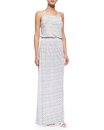 Narod Printed Slub Maxi Dress