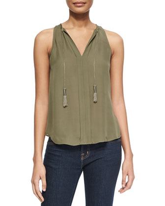 Airlan Sleeveless Silk Blouse