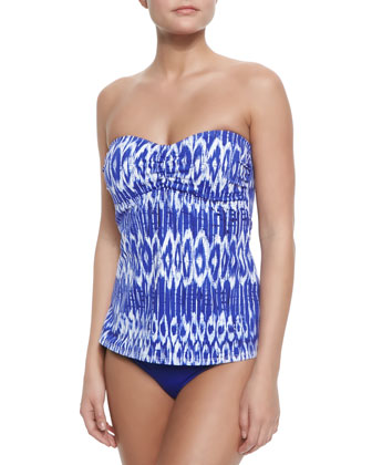 Printed A-Line Bandini Top & Pearl Solids Hipster Swim Bottom