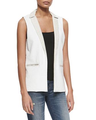 Adventure Blazer-Style Vest, White
