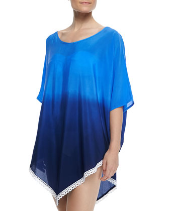 Salt Water Jewels Ombre Coverup