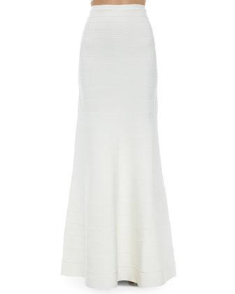 Elsee Scalloped Open-Knit Crop Top & Jayde Signature Bandage Mermaid Skirt