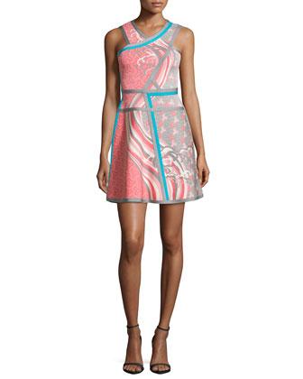 Eriko Tidal Wave Jacquard Dress