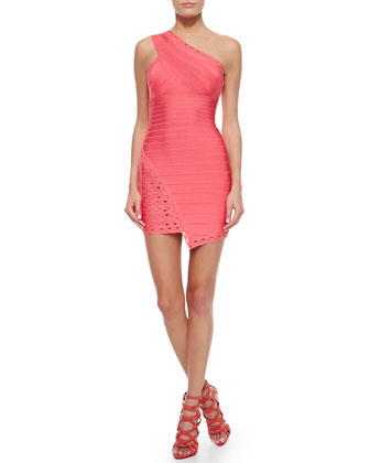 Orleana Zigzag Asymmetric Sheath Dress