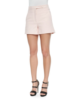 Structured Crepe Shorts