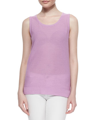 Scoop-Neck Textured Tank