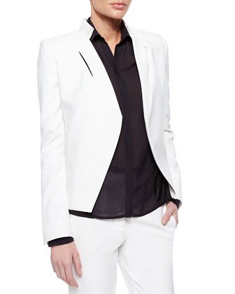 Slim Jacket with Slit Detail