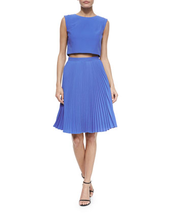 Milan 2-Piece Pleated Dress