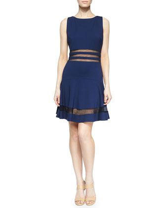Sleeveless Cocktail Dress, Navy