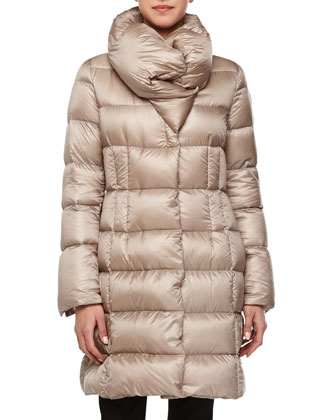 Lavendan Funnel-Collar Puffer Coat