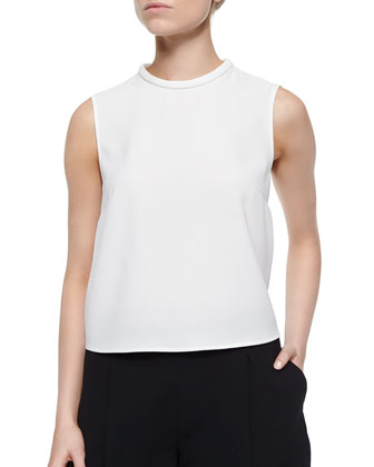 Open Twist-Back Crepe Top