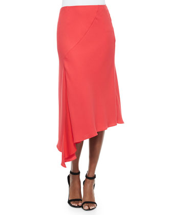 Crepe Twist-Front Sleeveless Top & Bias-Cut Woven Crepe Skirt