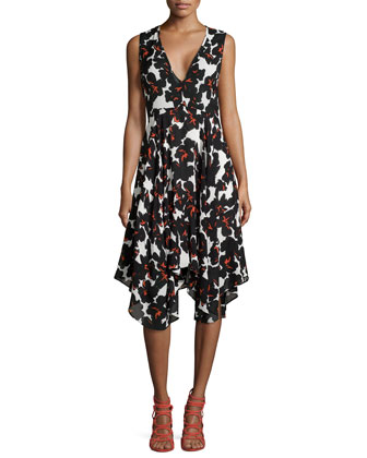 Nello Floral-Print Silk Dress