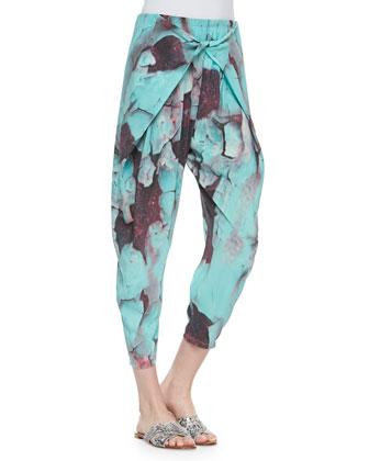 Levi Mosaic-Print Crossover Pants