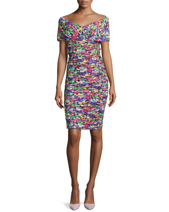 Samira Floral-Print Sheath Dress