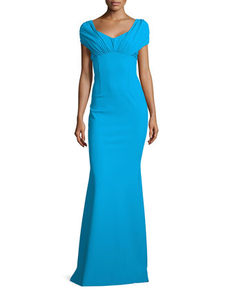 Ruched Sweetheart Gown, Torchino