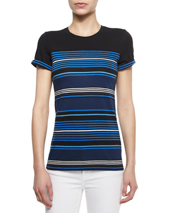 Striped Short-Sleeve Knit Tee
