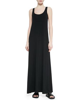 Jersey/Chambray Maxi Dress