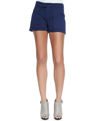 Patch-Pocket Tab Shorts