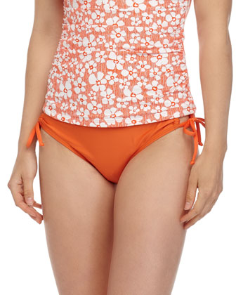 Solid Tunnel-Side Swim Bottom, Orange
