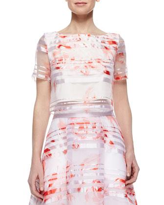 Rose-Print Short-Sleeve Shirt