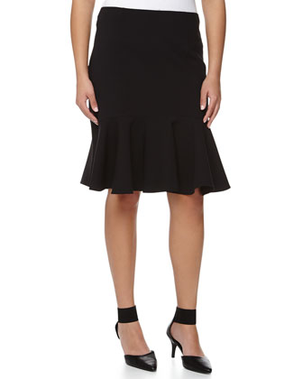Pencil Skirt with Flare Hem