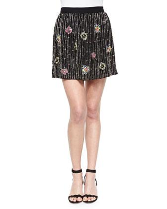 Santorini Floral Beaded Tank & Bri Skirt