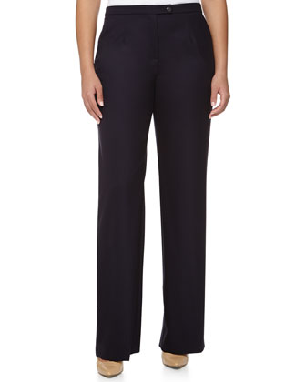 Classic Straight-Leg Pants, Navy