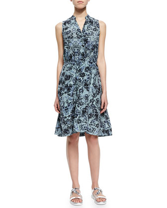 Kiku Sleeveless Printed A-Line Dress