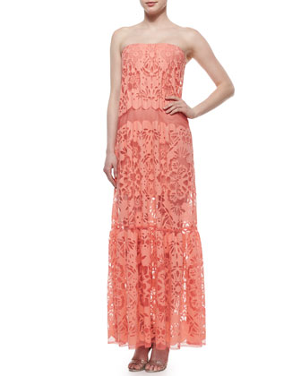 Melanni Tiered Lace Maxi Dress