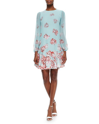 Bailee Floral-Print Dropped-Waist Dress