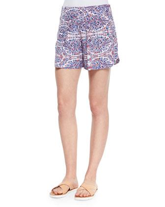 Paisley-Print Relaxed Shorts