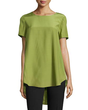 Kadence Short-Sleeve Top, Scallion