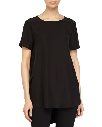 Kadence Silk Top, Black