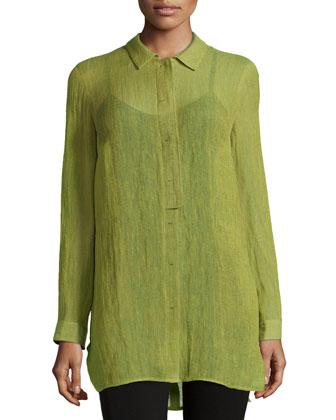 Suzette Long-Sleeve Blouse, Scallion Multi