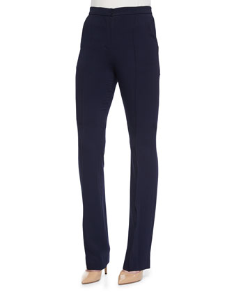 High-Waist Slim Suit Pants