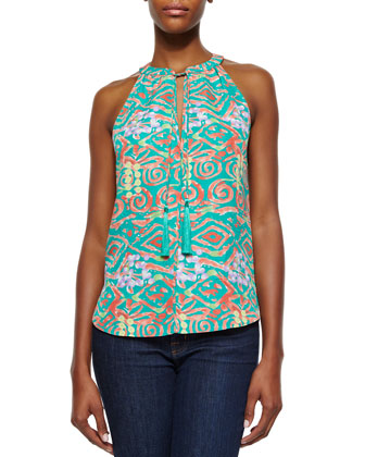 Layla Coral Reef Print Top, Coral