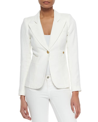 Duchess Single-Button Blazer