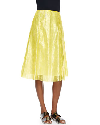 Grace Plisse Skirt, Yellow