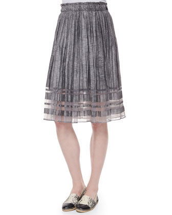 Luna Pleated Linen Skirt