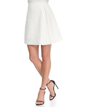 Asymmetric Pleated A-line Skirt