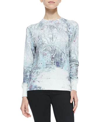 Cilene Printed Sweater W/ Embellishment