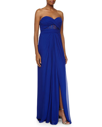 Silk Sweetheart Gown, Neptune
